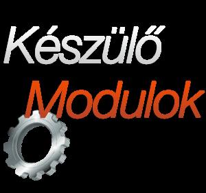 A szerviz szoftver készülő moduljai