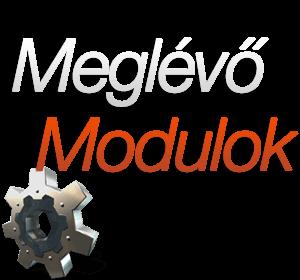 Meglévő szerviz szoftver modulok